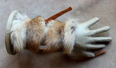 Red coyote fur taxidermy bracelets by Lupa. At http://thegreenwolf.etsy.com
