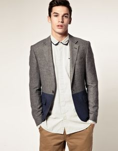 So obviously this is menswear...but that two tone blazer is too sharp of a look not to share.
