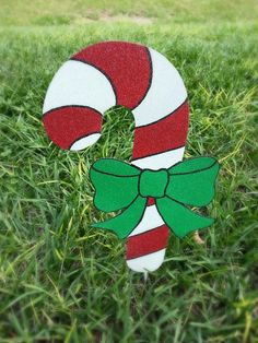 Candy Cane Yard Decorations – Set of 7 – Holiday Yard Decoration,  Christmas Decoration, Outdoor Holiday Candy Cane
