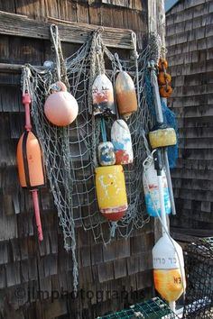 Nautical Wall Art, Buoys, Lobster Traps, Colorful Fishing Decor, Fishing Nets, New England Landscape, Fishing Village, Nautical Prints