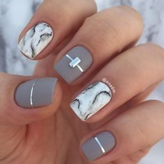 """124 Likes, 3 Comments - ANA (@ana0m) on Instagram: """"My first attempt on doing marble design #nails2inspire #nails #nailart #nailsdid #nailstyle"""