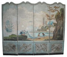 One Kings Lane - Park Ave. or Prince St.? - French Wallpaper Screen, C.  1800