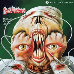 Destruction - Release From Agony  (animated cover GIF)  #destruction #thrashmetal #gif