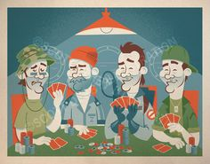 Four of a Kind Bill Murray tribute by SDerbyIllustration on Etsy, $40.00