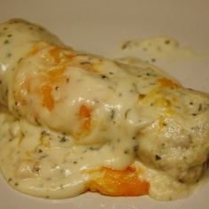 Skinny Sour Cream Enchiladas. Don't know how skinny it is, but sounds good. You had meat Rotel...lol!