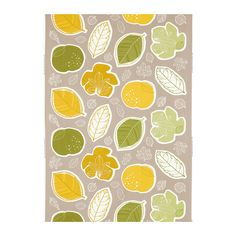 GURINE Méteráru IKEA A gyümölcs- és levélmintákat kivághatod, és feldíszítheted velük a táskádat, a párnákat vagy más ruhadarabokat.