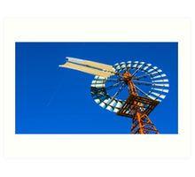 Giant Windpump near Melbourne Airport Art Print