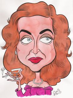 BETTE DAVIS CARICATURE