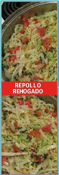 Repolho refogado especial - Comida y bebida - Mexican Food Recipes, Vegetarian Recipes, Cooking Recipes, Healthy Recipes, Vegetable Dishes, Vegetable Recipes, Good Food, Yummy Food, Vegan Foods