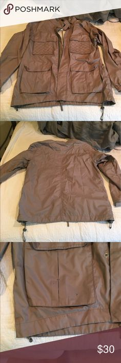 Jacket Grey men's utiktiy jacket. Previously worn with some wear such as stains and a small hole as pictured. Open to reasonable offers through feature! Staple Jackets & Coats Military & Field