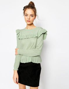 ASOS | ASOS Jumper with Ruffle Detail at ASOS