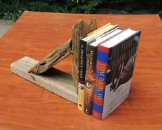 Driftwood Book End - Shelf -Sconce by TheDriftwoodDrifter on Etsy