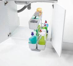 Maximise your space and enhance your kitchen's look and style with Kesseböhmer Base cabinet storage. It's great perfect for organising and storing cleaning products under the sink. Base Cabinet Storage, Storage Cabinets, Kitchen Organisation, Sink Organizer, Cleaning Agent, Base Cabinets, Your Space, Storage Solutions, Cupboard