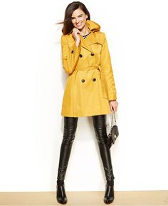 DKNY Hooded Trench Raincoat on shopstyle.com