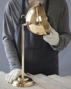 Handle Studio   ART DECO 05 brass wall lamp 520x200x100 mm, 1 lamp G4