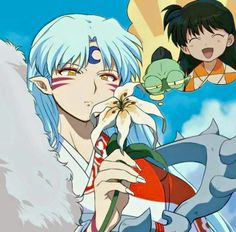 Sesshomaru, Rin, and Jaken