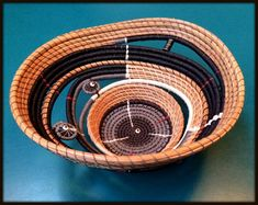 Pine Needle sculptured basket by Sheripineneedle on Etsy