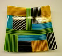 Fused Glass Plates and Bowls | Fused Strip Bowls-Intermediate