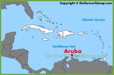 Cuba location on the North America map Maps Pinterest