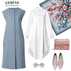 Simple and smart Simple and smart Modest Dresses, Modest Outfits, Modest Clothing, Classy Outfits, Muslim Fashion, Modest Fashion, Hijab Fashion, Fashion Dresses, Fashion Clothes