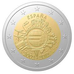 Moneda de 2€ año 2012 conmemorativa 10º aniversario del euro