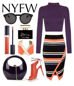 NYFW by hajni0103 on Polyvore featuring polyvore, fashion, style, WearAll, Ted Baker, Topshop, Rocio, Valextra, Illesteva, Christian Dior, Dolce&Gabbana, women's clothing, women's fashion, women, female, woman, misses and juniors