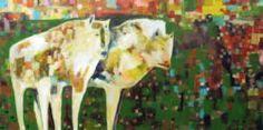 Linus Woods paintings | Bearclaw Gallery Edmonton - WHITE WOLVES