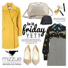 """Friday? Yes! /Mizzue Accessories"" by helenevlacho ❤ liked on Polyvore featuring Miu Miu, Maryam Keyhani, Jimmy Choo, women's clothing, women's fashion, women, female, woman, misses and juniors"