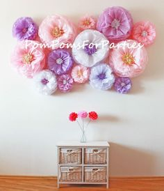 tissue paper blooms baby shower decorations flower backdrop wall