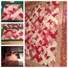 3dudes block quilt using French general fabric by moda for Mums birthday