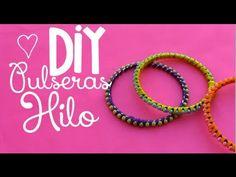 DIY: Pulsera rígida de hilo y cuentas | Bracelet Design