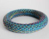 Knitted bracelet from Supermarno Studio via Etsy.com