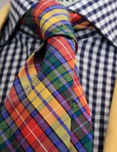"""landerurquijo: """" linen tie in detail / corbata de lino """""""