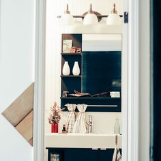Makers Workshop home tour on Design*Sponge (Baton Rouge, LA) #Louisiana #interiors #home #chevron
