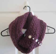 Hand Knit Infinity Scarf with Buttons // by itsCOWLdoutside, $33.00