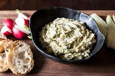 Lemony white bean dip with spring herbs