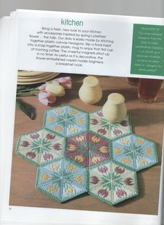 How to Decorate Your Home with Plastic Canvas Leisure Arts Plastic Canvas Coasters, Plastic Canvas Crafts, Plastic Canvas Patterns, Plastic Canvas Christmas, Stained Glass Designs, Craft Patterns, Yarn Crafts, Doilies, Needlepoint