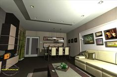 living/dining design 2 Bedroom Apartment, This Is Us, Flat Screen, Dining, Building, House, Home Decor, Style, Blood Plasma