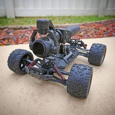 Clever setup of a DJI Osmo on an RC car  Photo by @heath.a.jordan