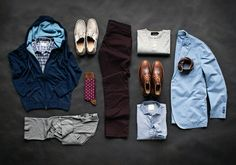 Menswear - 1 pair of pants, 2 outfits.