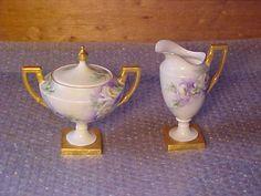 Sugar Bowl AND Creamer LA Seynie PP Porcelain Limoges France   eBay