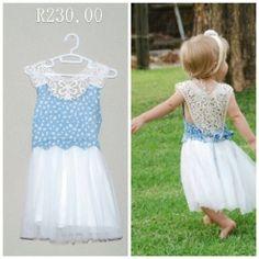 Crochet denim dress set Girls Dresses, Flower Girl Dresses, Dress Set, Petunias, Satin Dresses, Denim, Wedding Dresses, Crochet, Clothing