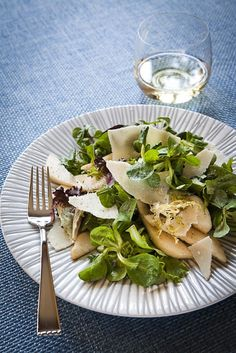 pear and parmesan salad