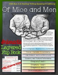 Of Mice and Men: Interactive Layered Flip Book