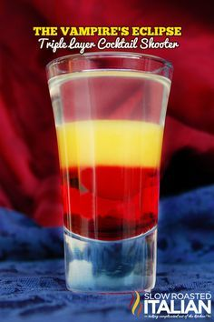 The Best Halloween Cocktail Recipe: The Vampire's Eclipse Triple Layer Cocktail Shooter