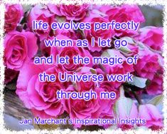life evolves perfectly when as I let go and let the magic of the Universe work through me 🌟