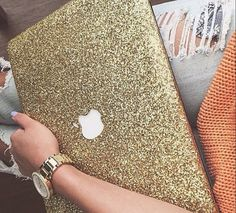 Glitter MacBook Hard Case for by LindsayAnnCreations on Etsy