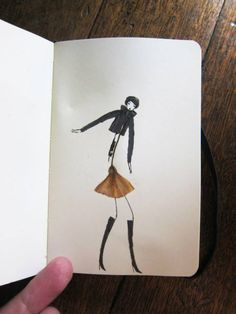 figurative sketchbook illustrations created around the forms of pressed leaves. They showed up in the Tumblr of the Sketching Backpacker.  #gallery #inspire #art #illustration #drawing #draw #photo #photos #picture #artist #people
