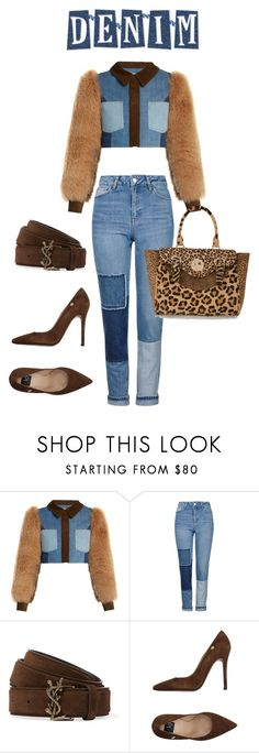 """""""Denim"""" by annwaynefashion ❤ liked on Polyvore featuring Sonia Rykiel, Topshop, Yves Saint Laurent, ISLO and Hill & Friends"""