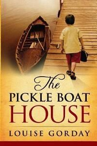 "THE PICKLE BOAT HOUSE designed by Rados from 99Designs. ""The challenge in this design was that I couldn't find a picture of a house that looked like the house depicted in the story. Instead, we concentrated on this evocative picture of a little boy, representing the child the mother in the story grieves over and daydreams about."
